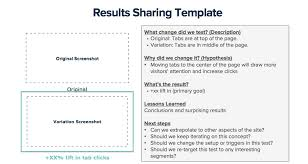 Excel Test Plan Template Your Results With Stakeholders Optimizely Knowledge Base