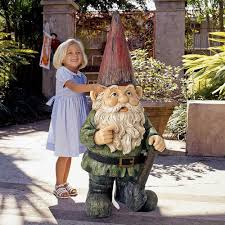 Garden Nome by Gigantic Garden Gnome Statue The Green Head