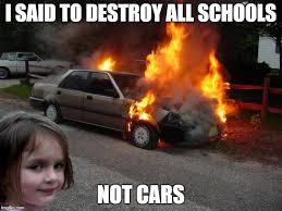 Car Girl Meme - disaster girl car latest memes imgflip