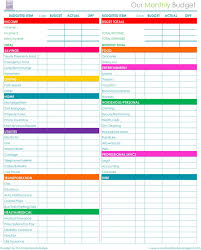 Spreadsheet For Budgeting Monthly Budget Template