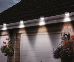 solar powered led outdoor lights fastens onto your gutters