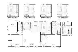 4 Bedroom Single Wide Mobile Home Floor Plans Platinum 6401