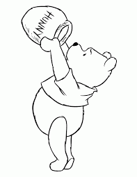 winnie the pooh coloring sheet for kids pixelpictart com