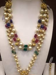 big pearls necklace images Gold long pearl mala from psj pinterest gold pearl pearls and big jpg