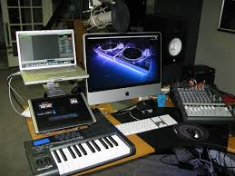 Home Studio Desk by Modern Home Studio With Computers Turntables And Recording