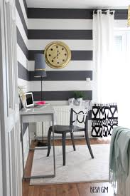 Black And White And Pink Bedroom Decorating Beautiful Black And White Horizontal Striped Curtains