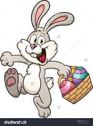 easter bunny with eggs clipart u2013 happy easter 2017