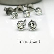 diamond stud earrings for men diamond stud earrings for men polymer studs in silver 4mm