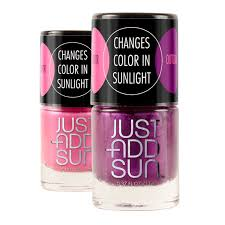 amazon com just add sun color changing nail polish stuff