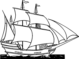 11 images of clipper ship coloring page drawing boat clip art