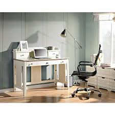 flamelux charlotte white desk with hutch z1310007w the home depot
