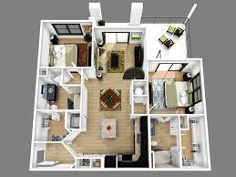 Living Room Apartment Ideas by 2 Bedroom Apartment Floor Plans 3d Amazing Decoration 416118