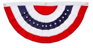 Flag White On Top Red On Bottom Amazon Com Patriotic Bunting 2 Sided Pleated Flag 58