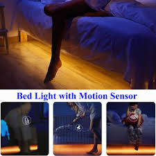 bed light with motion sensor night light for bedroom stair
