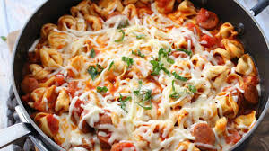 one pot cheesy tortellini and sausage recipe bettycrocker