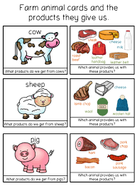 farm themed cards can be used as flash cards or can be used for