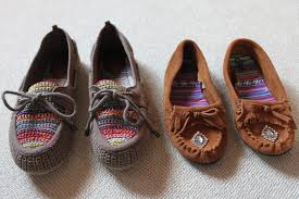 our new moccasins my material life