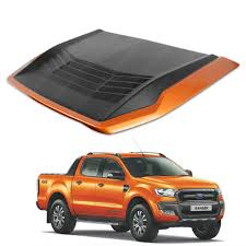 Bonnet Hood Scoop Cover Orange Wildtrak Trim For Ford Ranger 2015