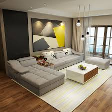 Contemporary Living Room Furniture Sets Living Room Furniture Modern L Shaped Fabric Corner Sectional Sofa