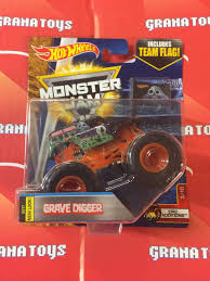 monster jam all trucks e wheels monster truck grave digger new color jam case e