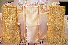 chair covers wedding reception décor photos gold sequin chair covers inside weddings