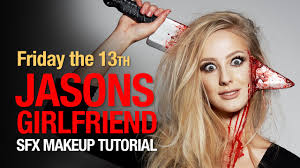 friday the 13th jasons girlfriend halloween makeup youtube
