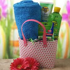 Baby Shower Door Prize Gift Ideas Sun Goddess Summer Gift Basket Door Prizes Shower Doors And