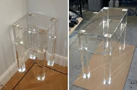 clear plastic bedside table clear plastic bedside table c shape acrylic accent table bedroom and