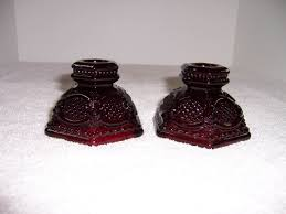 triple a resale 2 avon ruby red cape cod bread and butter plates