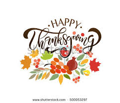 happy thanksgiving typography lettering stock vector