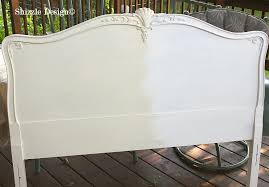 white painted headboard headboards chalk diy wood sigong info