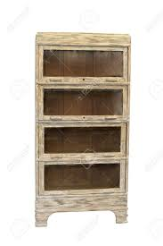 Antique White Bookcase Furniture by Restored Distressed Antique Bookcase Isolated In White Background