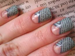 appealing newspaper nail art to beautify your nails youtube robin