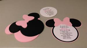 diy invitations diy minnie mouse invitations in light pink birthday