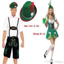 Maid Costumes Halloween Couples Oktoberfest Lederhosen Suspenders Costume Man