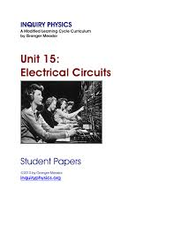electrical circuits worksheets intrepidpath p5 science electric