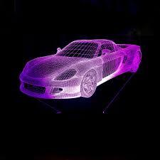 Wohnzimmerlampe Led Farbwechsel Online Shop Led Auto 3d Lampe 7 Farbwechsel Led Luminaria Nacht