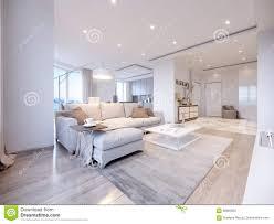 modern wit grijs woonkamer binnenlands ontwerp stock illustratie