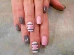 pink heart shellac nail art by misty my nail art work