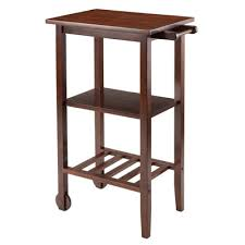 Winsome Stevenson Kitchen Cart With Wood Top  Reviews Wayfair - Kitchen cart table