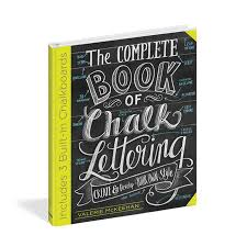 lily val the complete book of chalk lettering signed copy