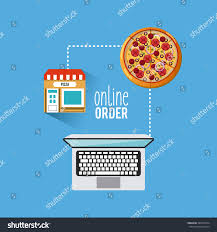 restaurant menu online order vector illustration stock vector