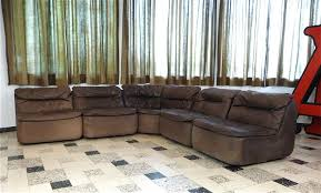 Curved Leather Sofas For Sale by Curved Sectional Corner Leather Sofa By Friedrich Hill For Walter