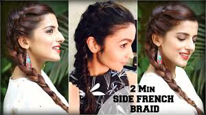 easy indian hairstyles for school 2 min easy everyday side french plait for school college work