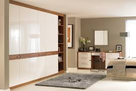 Bedroom Furniture White Or Cream Walnut And Cream Gloss Bedroom Furniture Eo Furniture