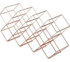 bar craft stackable wine rack copper finish ebay