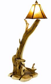 twisted juniper wood floor lamp by crookewood