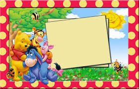 colors lovely winnie pooh party invitations printable