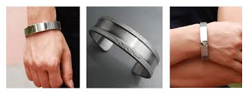 stainless steel cuff bracelet images Different cuff bracelet designs for men kamarsilver png