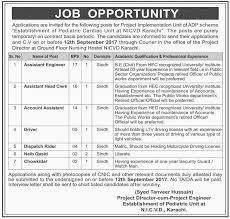 Security Guard Jobs With No Experience Jobs In Establishment Of Pediatric Cardiac Unit At Nicvd Karachi